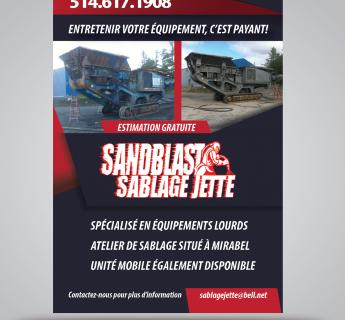 Sablage Jetté - flyer